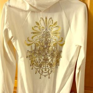 Express jeweled pullover hoodie